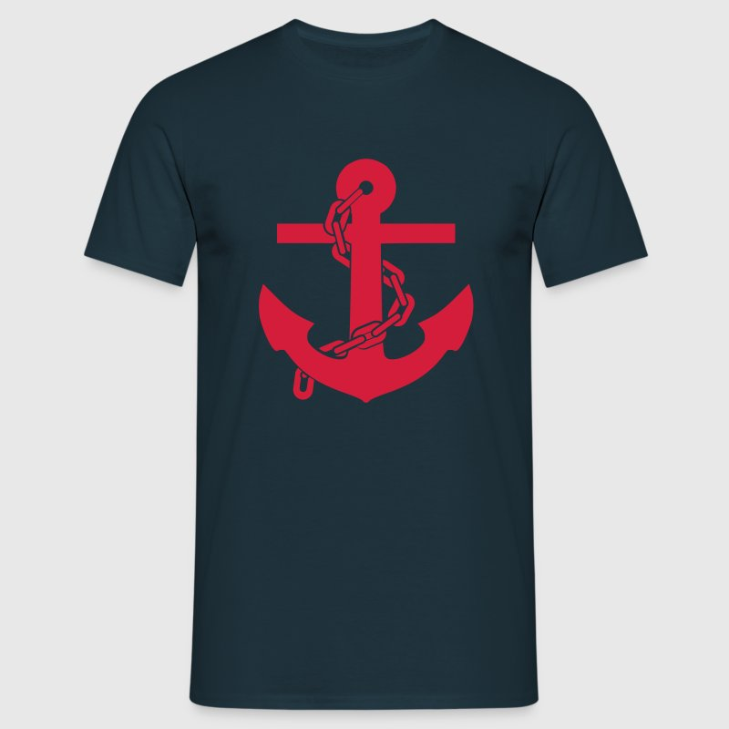 T-SHIRT ANCRE MARINE - T-shirt Homme
