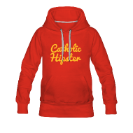 Hoodies & Sweatshirts ~ Women's Premium Hoodie ~ CATHOLIC HIPSTER