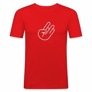 JDM Hand 2 (Outline) - Männer Slim Fit T-Shirt