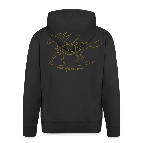 Awareness, Energy - personalisierbar 3XLWomen Zipper (Print: Gold metallic) - Männer Premium Kapuzenjacke