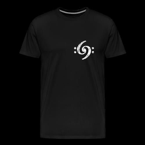 Double Bass Clef (Vintage Weiß) S-5XL T-Shirt - Männer Premium T-Shirt