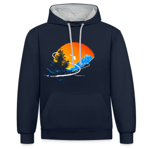 Surfs Up! - Contrast Colour Hoodie
