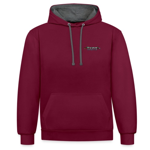 Unisex Contrast Hoodie Front and Back Logo - Contrast Colour Hoodie