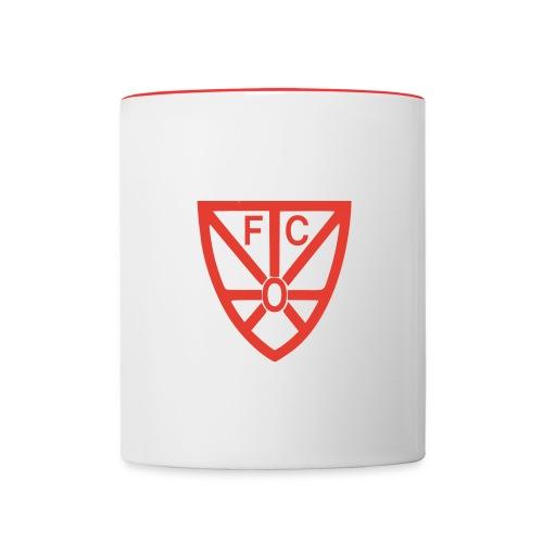 Tasse Zweifarbig FCO Logo - Tasse zweifarbig