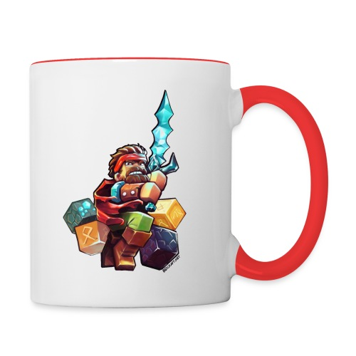 Hero on a Mug - Contrasting Mug