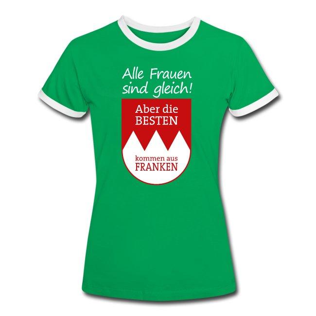 Kontrast Shirt mit Spruch und Wappen