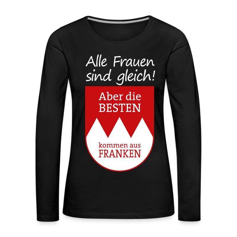 Langarmshirt mit Wappen und Spruch - Frauen Premium Langarmshirt