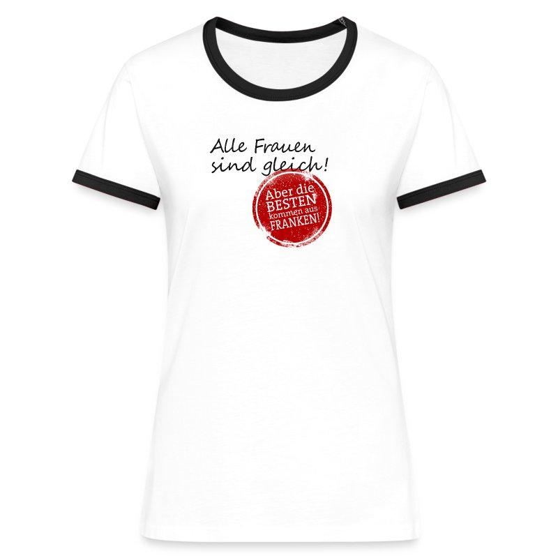 Shirt mit Stempel - Frauen Kontrast-T-Shirt