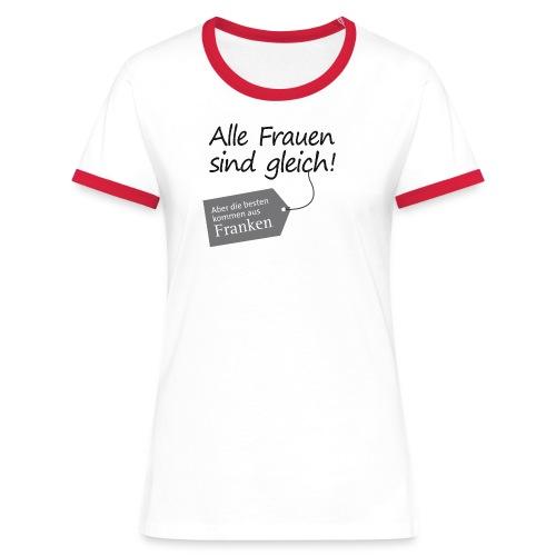 Frauen mit Anhänger - Frauen Kontrast-T-Shirt