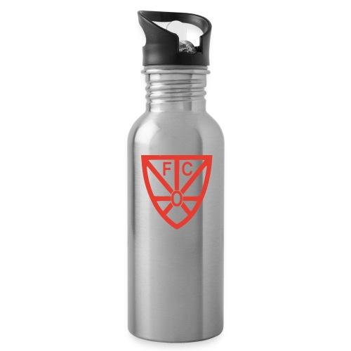 Trinkflasche Alu weiß/silber mit FCO-Logo - Trinkflasche