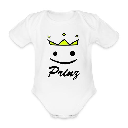 Baby Kurzarm-Body Prinz - Baby Bio-Kurzarm-Body