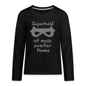 Superheld Langarmshirts - Teenager Premium Langarmshirt