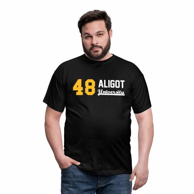 b52a9d73918c3 Tee shirt homme 48 Aligot University - logo Bicolore - jaune et blanc