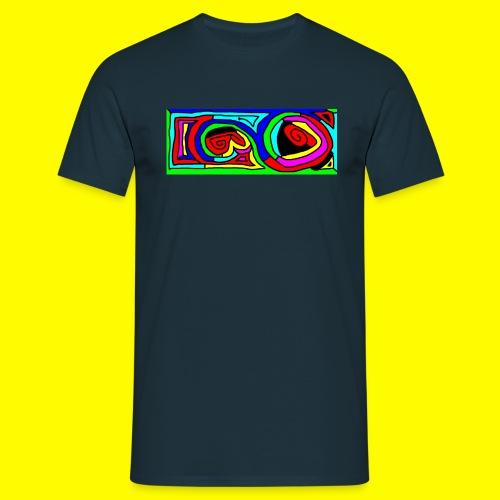bunte kringel querformat - Men's T-Shirt