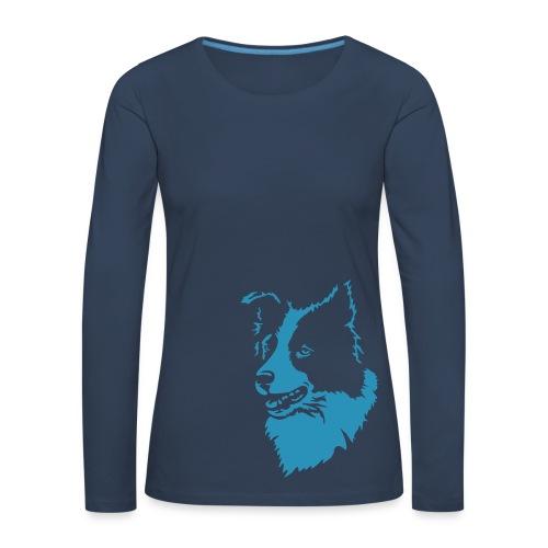 Langarmshirt für die Border-Freundin - ohne Text - Frauen Premium Langarmshirt