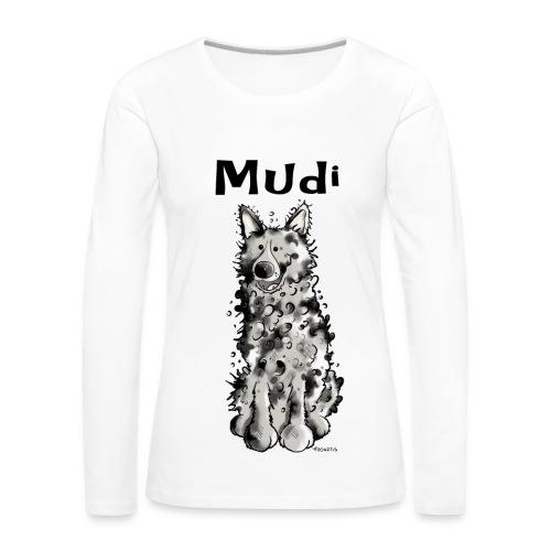 Langarmshirt für die Mudi-Freundin - Frauen Premium Langarmshirt