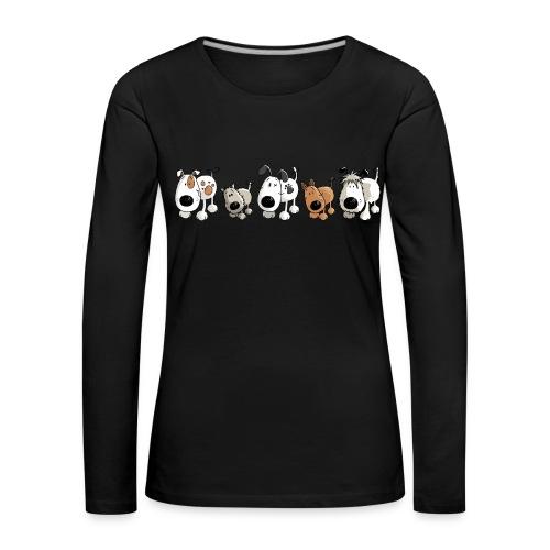Langarmshirt für die Hunde-Freundin - Frauen Premium Langarmshirt