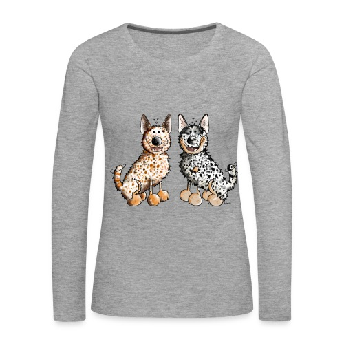 Langarmshirt für die Cattledog-Freundin - Frauen Premium Langarmshirt