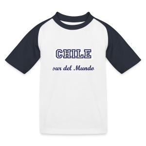 T Shirt Chile sur del Mundo - Kinder Baseball T-Shirt