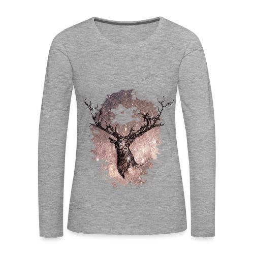 t-shirt cerf  - T-shirt manches longues Premium Femme