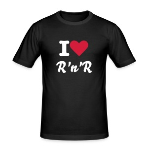 I ♥ R'n'R Slim Fit T-Shirt Männer - Männer Slim Fit T-Shirt