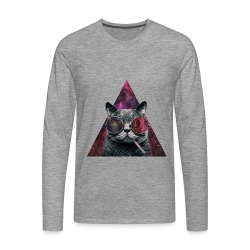 t-shirt cat hipsta - T-shirt manches longues Premium Homme