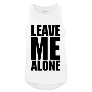 Leave Me Alone White Performance Vest - Men's Breathable Tank Top