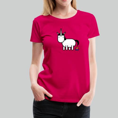 Einhorn Poop - Frauen Premium T-Shirt