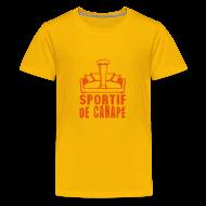 Tee shirts ~ T-shirt Premium Ado ~ sportif de canapé