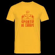 Tee shirts ~ Tee shirt Homme ~ sportif de canapé