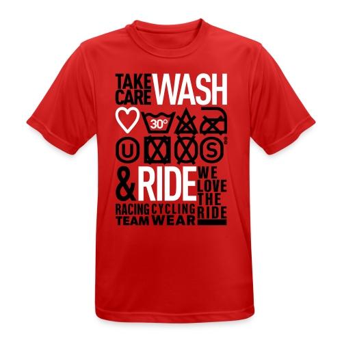 WASH&RIDE • PRINT BLACK & WHITE • - T-shirt respirant Homme
