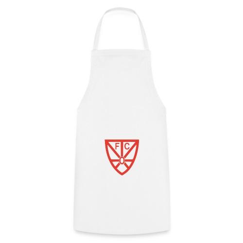 Kochschürze weiß mit FCO Logo - Kochschürze