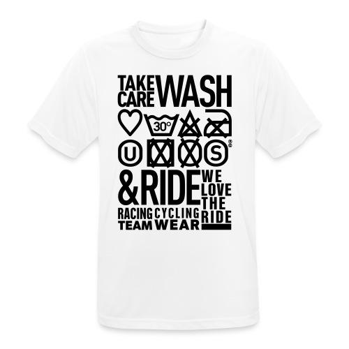 WASH&RIDE • PRINT BLACK • - T-shirt respirant Homme