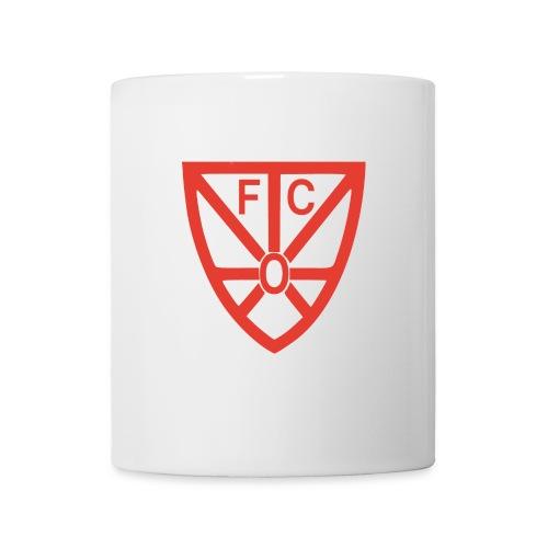 Tasse weiß mit FCO-Logo - Tasse