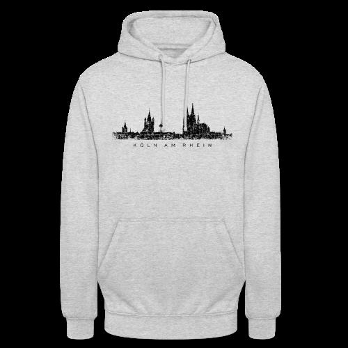 Köln am Rhein Skyline (Vintage Schwarz) Hoodie - Unisex Hoodie