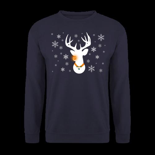 epic Reindeer Navy Sweater - Men's Sweatshirt