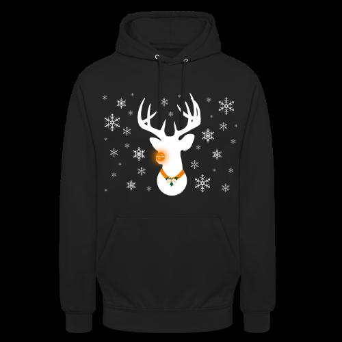 epic Reindeer Black Hoodie - Unisex Hoodie
