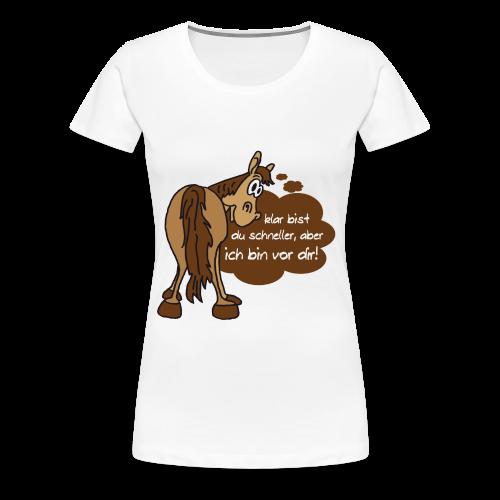 Schnelles Pferd-Braun - Frauen Premium T-Shirt