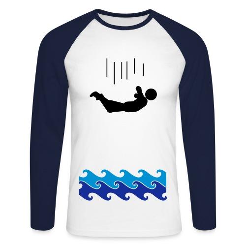 Falling in water - Langærmet herre-baseballshirt