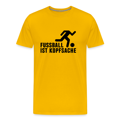 Fussball ist Kopfsache Shirt - Männer Premium T-Shirt