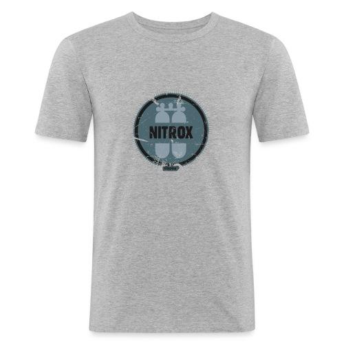 FROGMAN GRIS&BLEU PLONGEE SOUS MARINE - T-shirt près du corps Homme