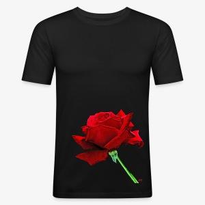 Rose rouge - Men's Slim Fit T-Shirt