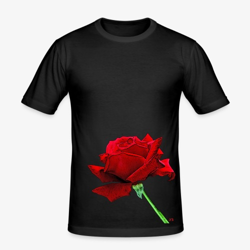 Rose rouge - Men's Slim Fit T-Shirt