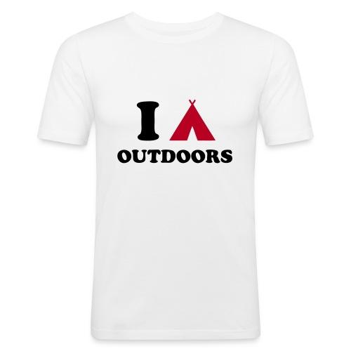 I Camp Outdoors - Men's Slim Fit T-Shirt