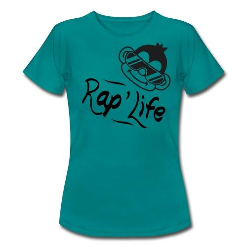 The Rap Life T-Shirt for girls  - Dame-T-shirt