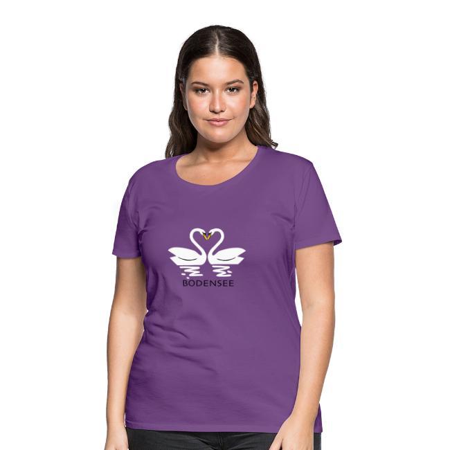85d3084fdadeb Der Bodensee T-Shirt Shop | Bodensee T-Shirt mit Herz (LilaDamen ...