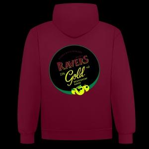 LTD DARKSIDE RAVERS GOLD HOOD - Contrast Colour Hoodie