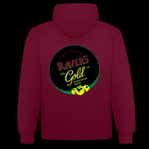 LTD DARKSIDE RAVERS GOLD HOOD - Contrast Colour Hoodie
