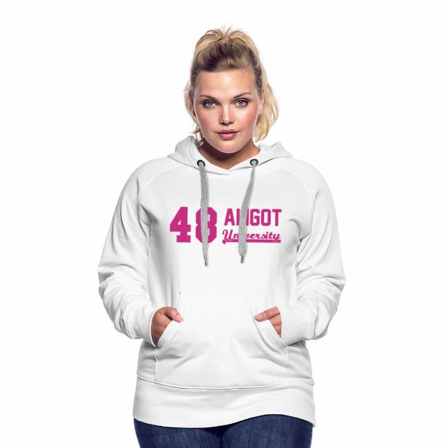0bf0a1c3c3489 Sweat shirt femme marquage Rose velours