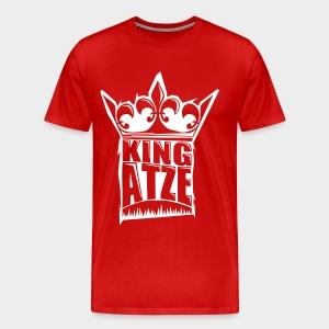 KING ATZE RED SHIRT  LOGO WHITE - Männer Premium T-Shirt